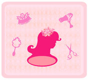 Hairdressing salon icons Stock Photos