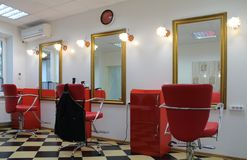 Hairdressing salon royalty free stock photography