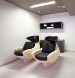 Hairdressing salon. Special sink and chair at hairdressing salon Royalty Free Stock Images