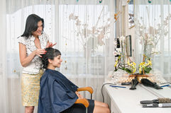 In hairdressing saloon Royalty Free Stock Images