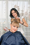 In hairdressing saloon Stock Photography