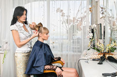 In hairdressing saloon Royalty Free Stock Photo