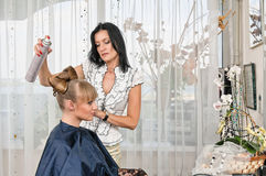 In hairdressing saloon Royalty Free Stock Image
