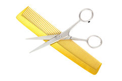Hairdressing scissors Stock Images
