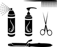 Hairdressing set Royalty Free Stock Images