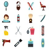 Hairdressing set flat icons Stock Images