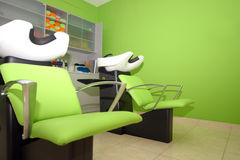 Hairdressing studio basin stock image