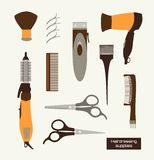 Hairdressing supplies Vector Illustracion stock images