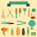 Hairdressing symbols Stock Photo
