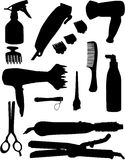 Hairdressing tools Stock Photography