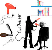 Hairdressing, tools and equipment Stock Image