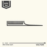 Hairdressing tools. Icons series. Comb. Stock Photos