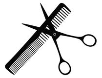 Hairdressing tools. Vector file of hairdressing tools Royalty Free Stock Images