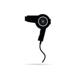 Hairdryer black art vector illustration Stock Photos