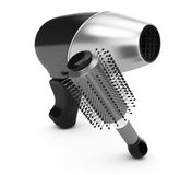 Hairdryer and comb Royalty Free Stock Photos