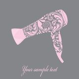 Hairdryer made from leaf pattern. royalty free illustration