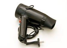 Hairdryer negro Imágenes de archivo libres de regalías
