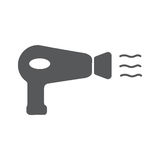 Hairdryer sign icon. Hair drying symbol. Hairdryer sign flat icon. Hair drying symbol. Vector illustration EPS10 Stock Image