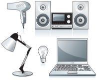 Hairdryer, Stereolithographie, Laptop Lizenzfreies Stockfoto