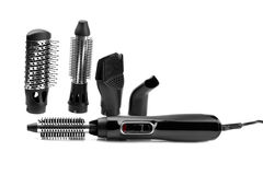 Hairdryer  styler brush Stock Images