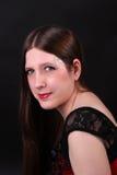 haired lång nätt kvinna för brunett royaltyfri fotografi