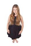 haired longstanding för flicka royaltyfria bilder