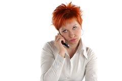 haired röd kvinna arkivfoto