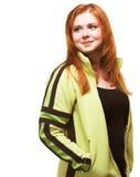 haired rött barn för flicka fotografering för bildbyråer