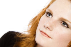haired red för flicka Fotografering för Bildbyråer