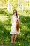 haired red för härlig flicka Royaltyfria Foton