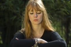 haired red woman Στοκ φωτογραφία με δικαίωμα ελεύθερης χρήσης