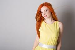 haired red woman young στοκ εικόνες με δικαίωμα ελεύθερης χρήσης
