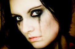 haired svart flicka Royaltyfri Foto