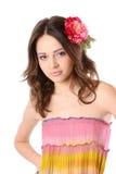 hairpin τριχώματος κοριτσιών λ&omicro στοκ εικόνες