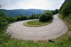 Hairpin in alps Royalty Free Stock Photo