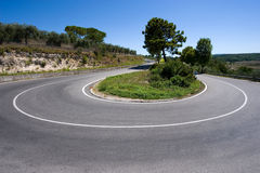 Hairpin bend Royalty Free Stock Image