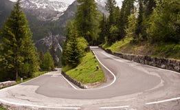 Hairpin bend. Near Livigno, Italy Stock Photography