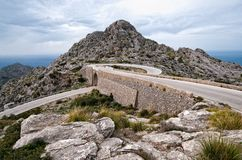 Hairpin bend curve sa calobra majorca Royalty Free Stock Photo
