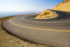 Hairpin bend in desert Royalty Free Stock Photography