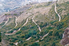 Hairpin bends Stock Photo