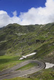Hairpin curve. Hairpin bend on a road at high altitude.Location:Transfagarasan road,Romania stock photo