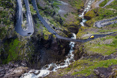 Hairpin curves. View over the spectacular Trollstigen the mountain road in Norway Stock Photo