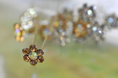 Hairpin with Diamonds Royalty Free Stock Image
