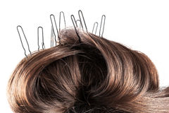 Hairpin in her hair Royalty Free Stock Photo