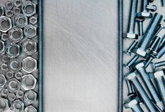 Hairpin i inni naprawianie elementy na porysowanym Obrazy Stock