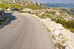 Hairpin route - Montenegro Royalty Free Stock Image