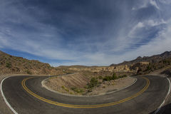 Hairpin Turn. Along deserted highway Stock Images