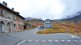 A hairpin turn of the famous Stelvio Pass Stock Image