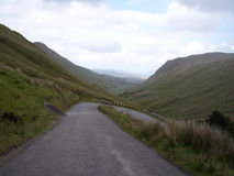 Hairpin Turn in the Gap of Mamore, Ireland. Road through the Gap of Mamore in Co. Donegal Royalty Free Stock Photography