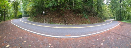 Hairpin turn. A sharp bend in the road Stock Image